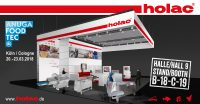 Cutting-edge specialism from holac at Anuga FoodTec